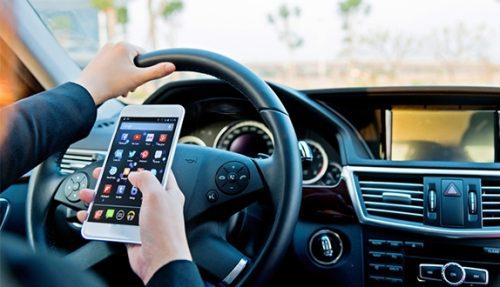 sensori di parcheggio su smartphone