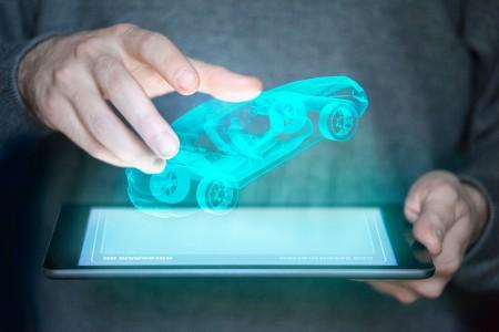 targa auto digitale