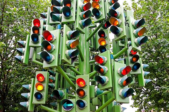 rosso al semaforo